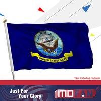 MOFAN abd donanma bayrak tuval Header ve çift dikişli-abd askeri bayraklar Polyester 2 pirinç Grommets 3x5 ft kapalı/açık