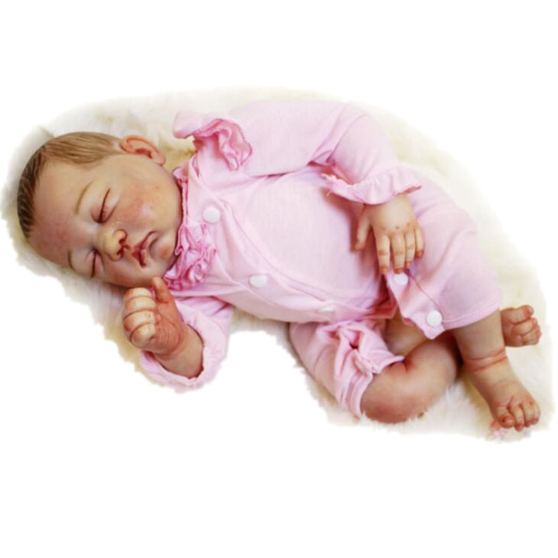 Newborn Doll Silicone Reborn Dolls 50 cm/20 Inch, Real Looking Baby Doll Toys for Children Lifelike Baby Reborn Doll Juguetes 20 inch silicone reborn dolls sleeping baby bonecas with clothes real looking newborn baby doll toys for girls children