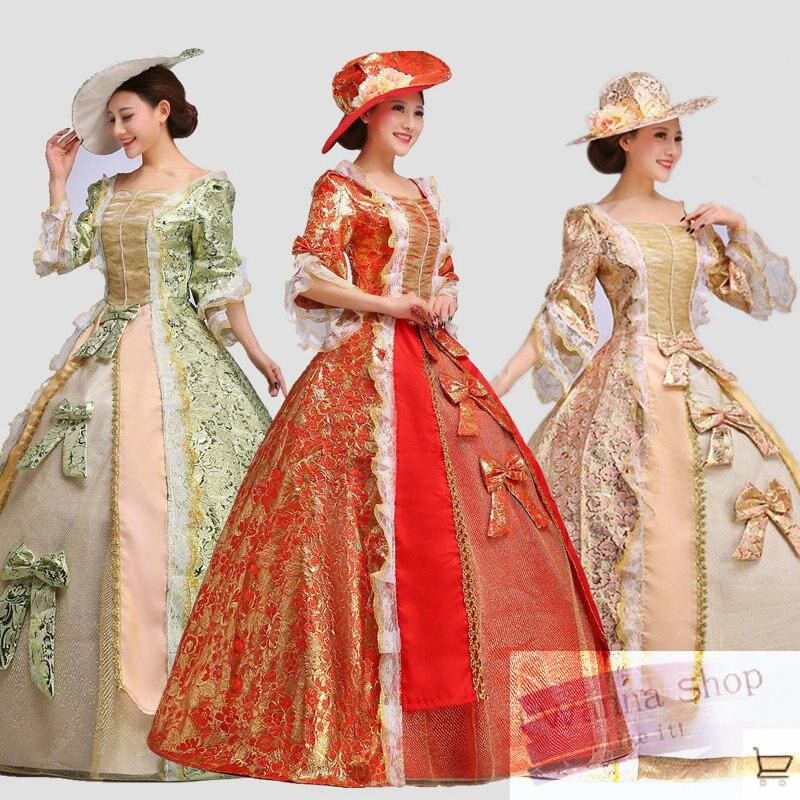 Rose rouge violet rose clair rouge femmes royal robe de danse formelle vêtements de mode femme royal princesse costumes de danse