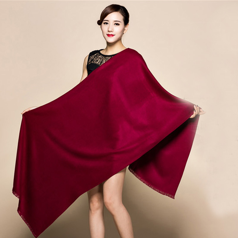 20 Candy Colors Brand New Burgundy Women's Fashion Cashmere Pashimina Thick Soft Shawl   Scarfs     Wrap   Warm 200x60cm 1211
