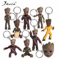 [Neue] Baby Groots Baum Mann Figur Spielzeug Keychain Anhänger Guardians Of Galaxy Tanzen Film Figuren Spielzeug Anhänger Halskette geschenk