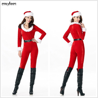 Christmas Costumes for Adults Women Winter 2017 Santa Claus Deer Tree Cosplay Fancy Party Sexy Christmas Dresses