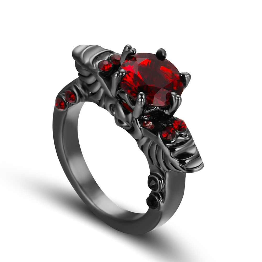 1 pcs แฟชั่นสไตล์ผู้หญิง Zircon Punk แหวนเครื่องประดับยอดนิยมขาย anillos para las mujeres