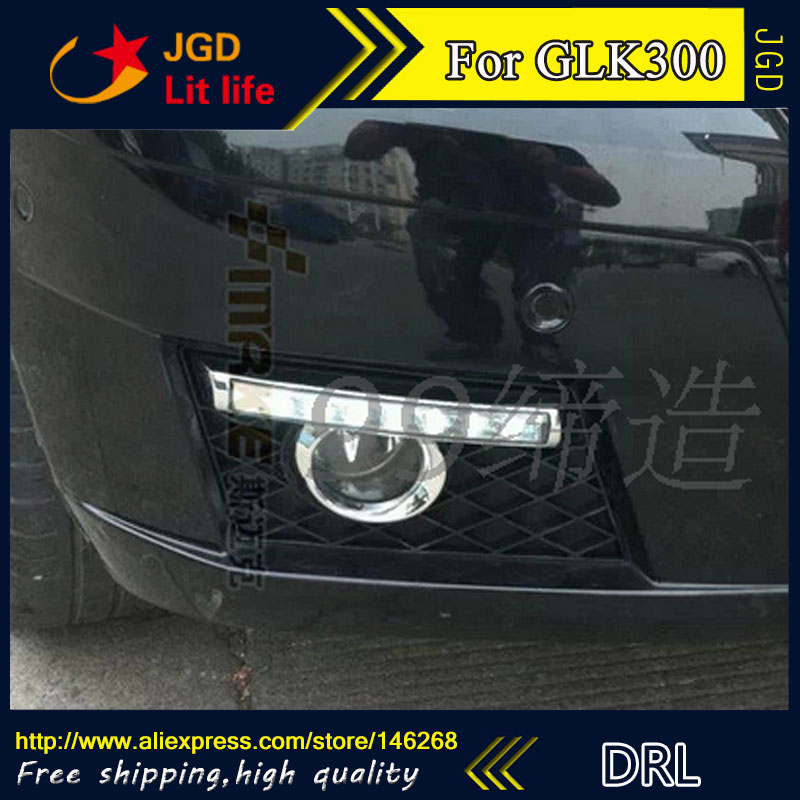 Free shipping ! 12V 6000k LED DRL Daytime running light for Benz GLK300 GLK350 GLK500 fog lamp frame Fog light Car styling 2pcs 12v 31mm 36mm 39mm 41mm canbus led auto festoon light error free interior doom lamp car styling for volvo bmw audi benz
