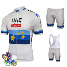Cycling Jersey Set 2019 Pro Team UAE Cycling Clothing MTB Cycling Bib Shorts Bike Jerseys Set Ropa Ciclismo Hombre Cycling Kit