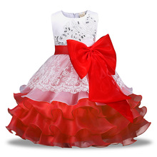 2018 Summer Flower Girl Dress Ball Gowns Kids Dresses For Girls Party Princess Baby Girl Clothes 3 4 5 6 7 8 Years Evening Dress