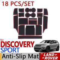 for Land Rover Discovery Sport Anti Slip Rubber Cup Cushion Groove Mat 18pcs/set 2015 2016 2017 Accessories Car Styling Sticker