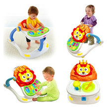 Baby Activity Gym 4 In 1 Infant Multi-function Walker and Cart Dining Table with Music Toys Newborn Set Gifts for Children H396(China)