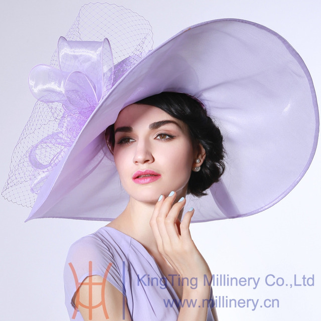 bcc44d3e292 Women Ladies Organza Hat Derby Church Wedding Beach Cocktail Evening Party  Summer Sun Cap Vintage Dress