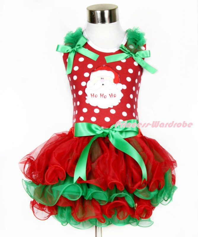 New 2015 Baby Girl Christmas Dress Girl's Sleeve Length Merry Christmas Dress Kids Cotton Dot Casual Dress Girls Tutu Dress