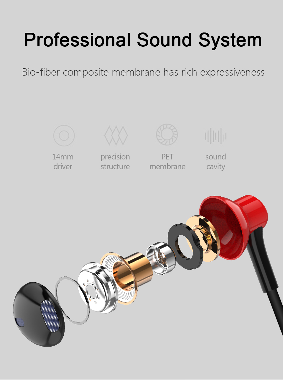 2018 Official Half In-ear Stereo Bass Earphones 3.5mm jack wired control HiFi Earbuds Headset for iPhone Xiaomi Mobile Phones