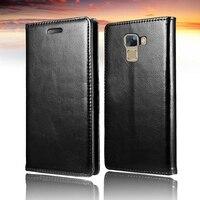 Huawei 社名誉 7 カバーラグジュスマートフォン pc ケースブックスタイル coque 電話名誉 7 黒カバー