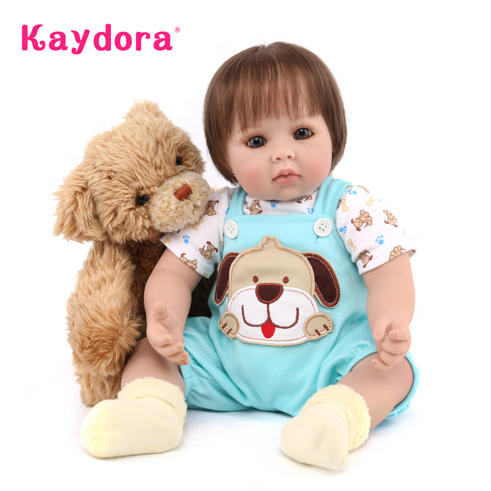 цены Kaydora 50 CM Adorable Princess Doll Handmade boneca silicone Lifelike boneca reborn silicone bebe reborn de pano Christmas Gift