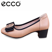Ecco 2019 Office Lady Shoes High Heels Woman Shoes Round Toe Dress Shoes High Quality Genuine Leather Elegant Women's Pumps