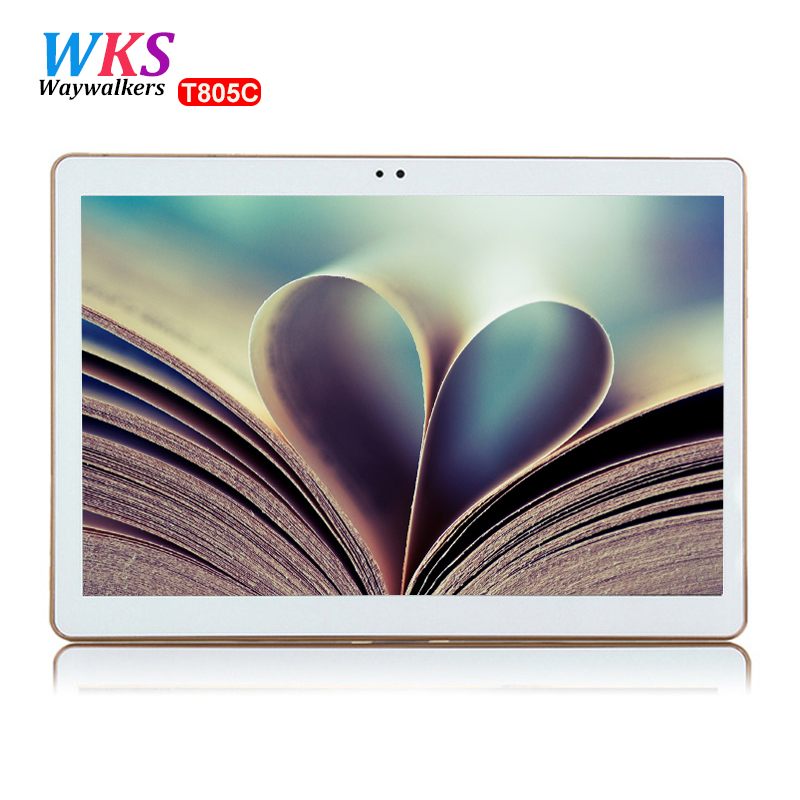 Waywalkers 10.1 inch T805C Smart tablet pc Android 5.1 Octa core Ram 4GB Rom 64GB Dual SIM Bluetooth GPS tablets 1280*800 MT6592 waywalkers 10 1 inch smart tablet pc octa core ram 4g rom 64gb android 5 1 4g lte call computer tablets bluetooth gps 1280 800