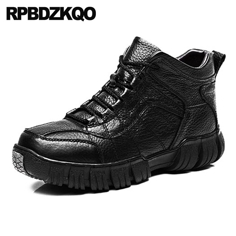 Shoes Ankle Genuine Leather High Top Thick Soled Faux Fur Men Sole Booties Flat Super Warm Winter Boots Russian Style Full Grain black super warm winter boots russian style full grain men fashion trainer sneakers high top genuine leather booties fur shoes