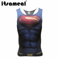 Itsameal 2017 Superhero Singlets Superman Tank Tops Bodybuilding Vest Muscle Tank Tops Spiderman Captain America Male