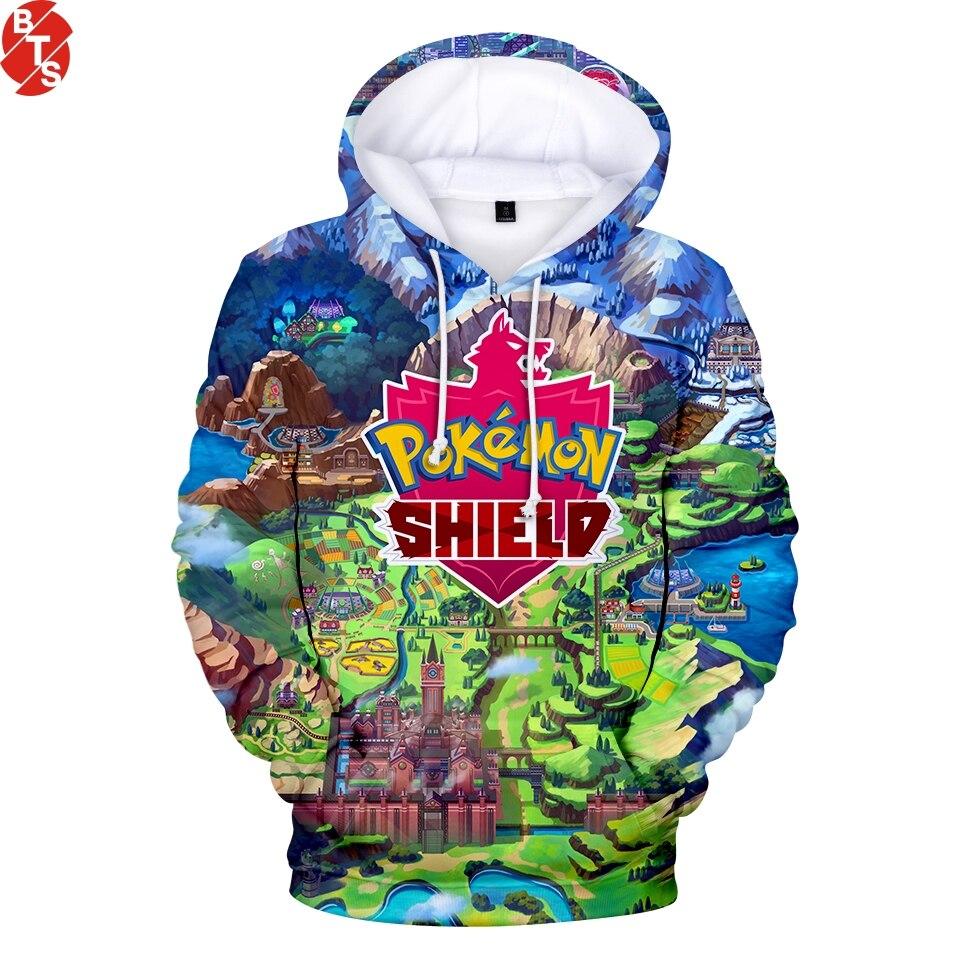 Pokemon Sword And Shield 3D Printed Hoodies Women/Men Fashion Long Sleeve Hooded Sweatshirts 2019 Harajuku Streetwear Clothes