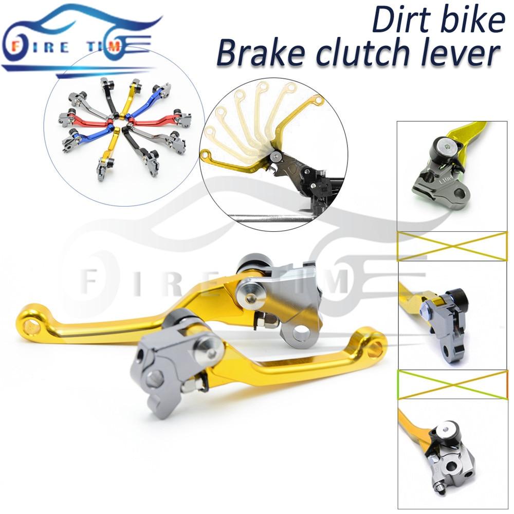 ФОТО motorbike cnc foldable brake clutch levers yellow dirt bike clutch brake lever FOR KAWASAKI KDX 125 SR 1990 1991 1992 1993 1994