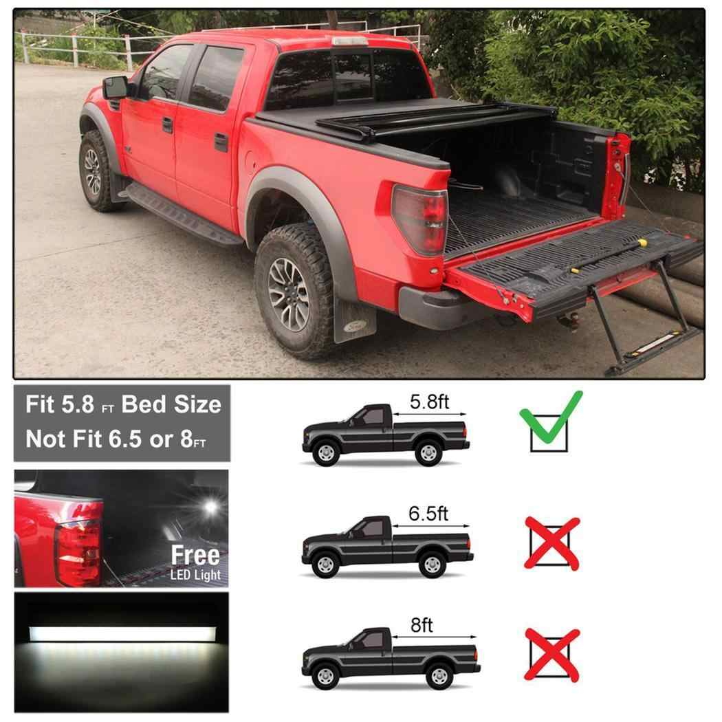 Tri Fold Tonneau Cover Fits For Dodge For Ram 1500 2009 2017 5 8ft Rear 5000 6000k 4 4w Max Cover Smd Led 0 45 Car Covers Aliexpress