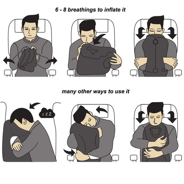 XC USHIO Inflatable Travel Sleeping Bag 10