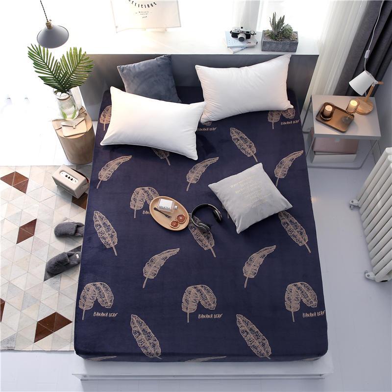 Offre spéciale 100% Polyester hiver drap de lit avec bande élastique matelas protecteur impression drap housse matelas couverture draps - 4