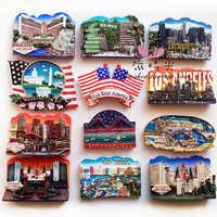 Estados Unidos Hollywood Los Angeles Las Vegas turismo memoria imán nevera 3D imán pegatina viaje recuerdo Decoración