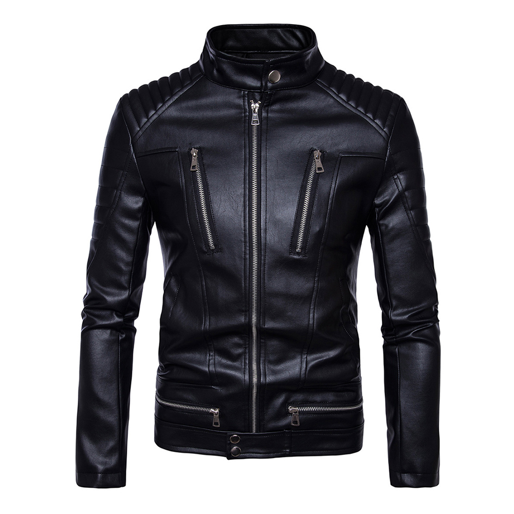 Herobiker Motorcycle Jackets Men PU Leather Jacket Vintage Retro Riding Zipper Biker Punk Casual Coat Windproof Motorbike Jacket zipper fly chamois biker jacket