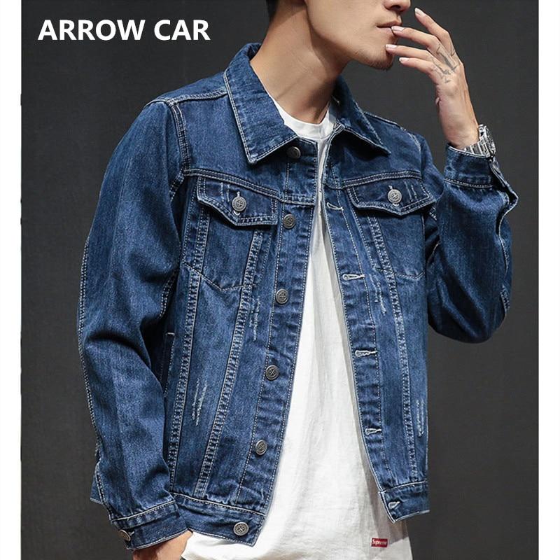 Slim Jeans veste hommes coton tendance Slim décontracté adolescent mode Jean veste Bomber veste de haute qualité Cowboy Jaqueta Masculina