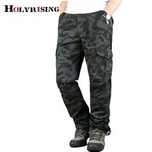 Мужские зимние брюки карго с бархатной подкладкой, мужские брюки с несколькими карманами, Свободные повседневные брюки, мужские брюки с бесплатным поясом, мужские камуфляжные брюки 18678-5