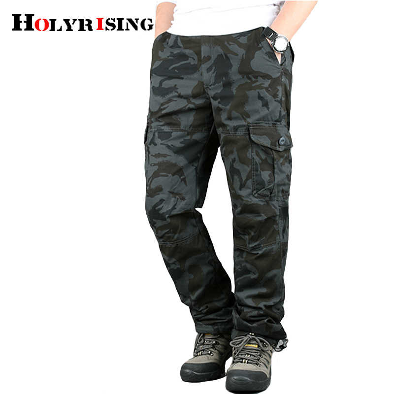 Men Winter Cargo Pants velvet padded men's multi-pocket trousers loose casual pants men's Free belt Men Camouflage pants 18678-5