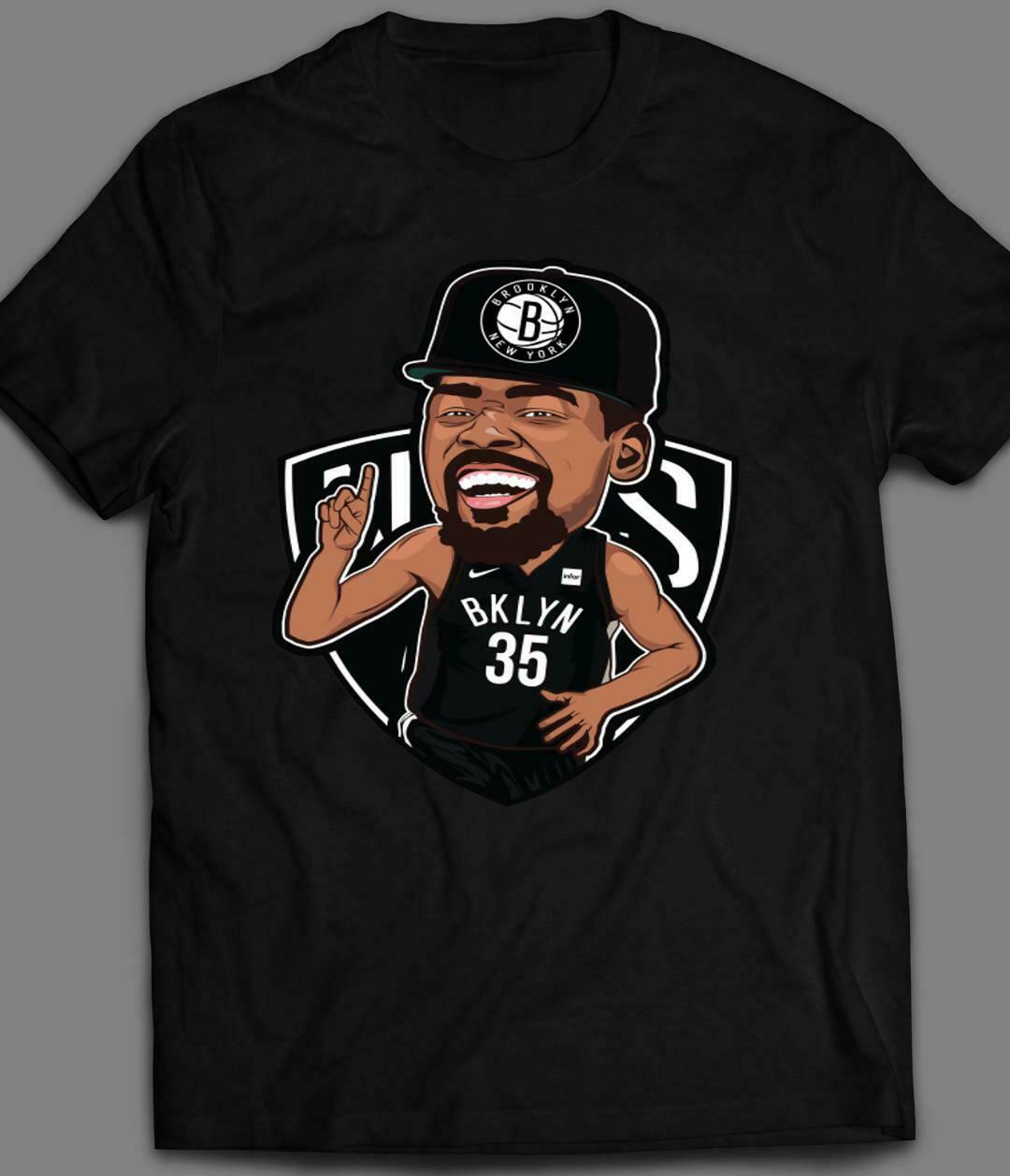BROOKLYN KEVIN <font><b>KD</b></font> DURANT #35 NEW KING OF NEW YORK T-<font><b>SHIRT</b></font> - HIGH QUALITY image