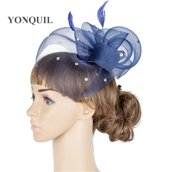 High Quality Fasinator Hats Bridal Hair Accessories Women Cocktail Party Hats Ladies Kentucky Derby Hats Accessories MYQ048 image