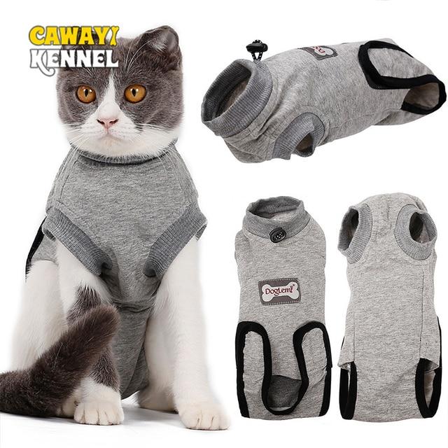 Cotton Breathable Cat Sterilization Surgery Clothes