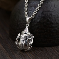 Gold emperor wholesale jewelry line S925 pure silver Thai silver antique style trunk god pendant lovers gift