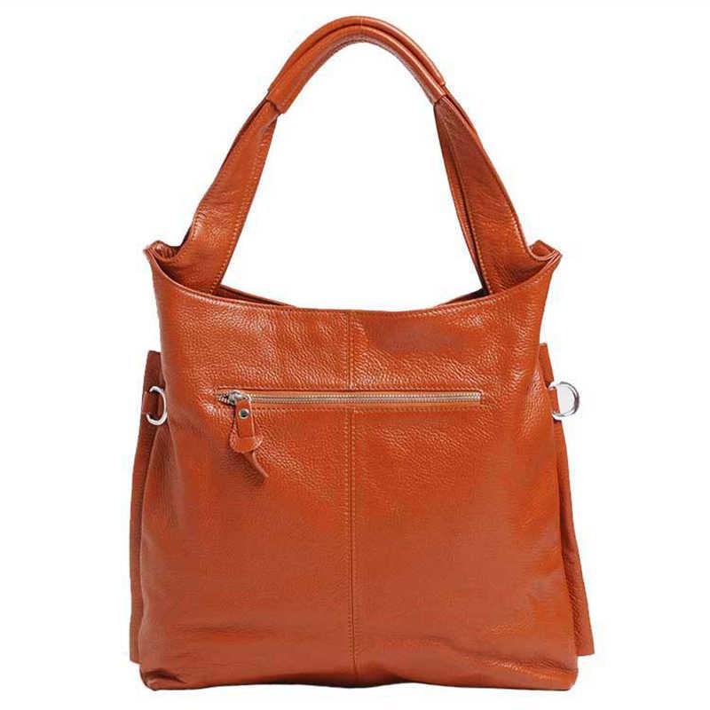 Marca New Genuine Bolsa De Couro Das Senhoras Do Couro do vintage Grande Capacidade Bolsa Sac A Principal Famosos Projeto Lady Crossbody Preto sacos