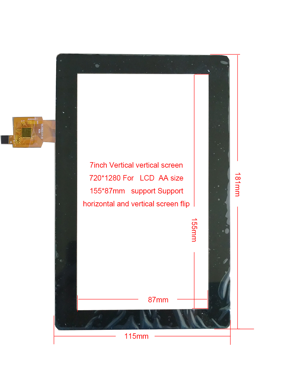 7inch USB Touch Screen For  720*1280 LCD Support Horizontal And Vertical Screen Adjustment Raspberry windows10