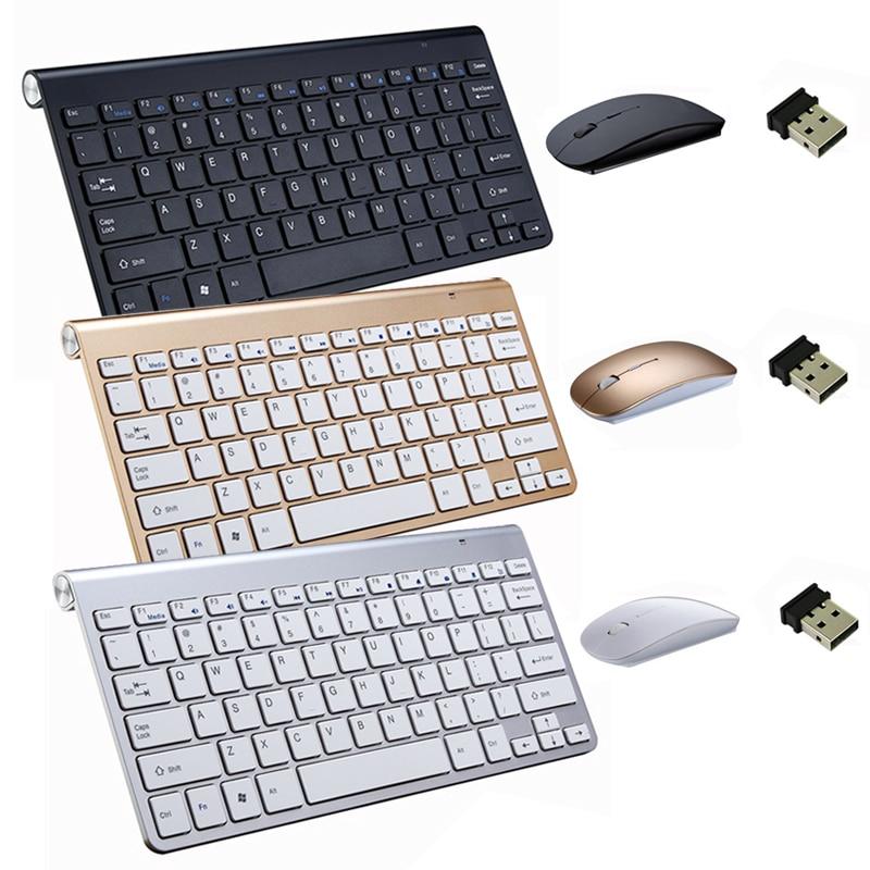 2.4g teclado sem fio e mouse kit teclado ultra-fino para android ios computador portátil notebook mac desktop tv caixa de escritório suprimentos
