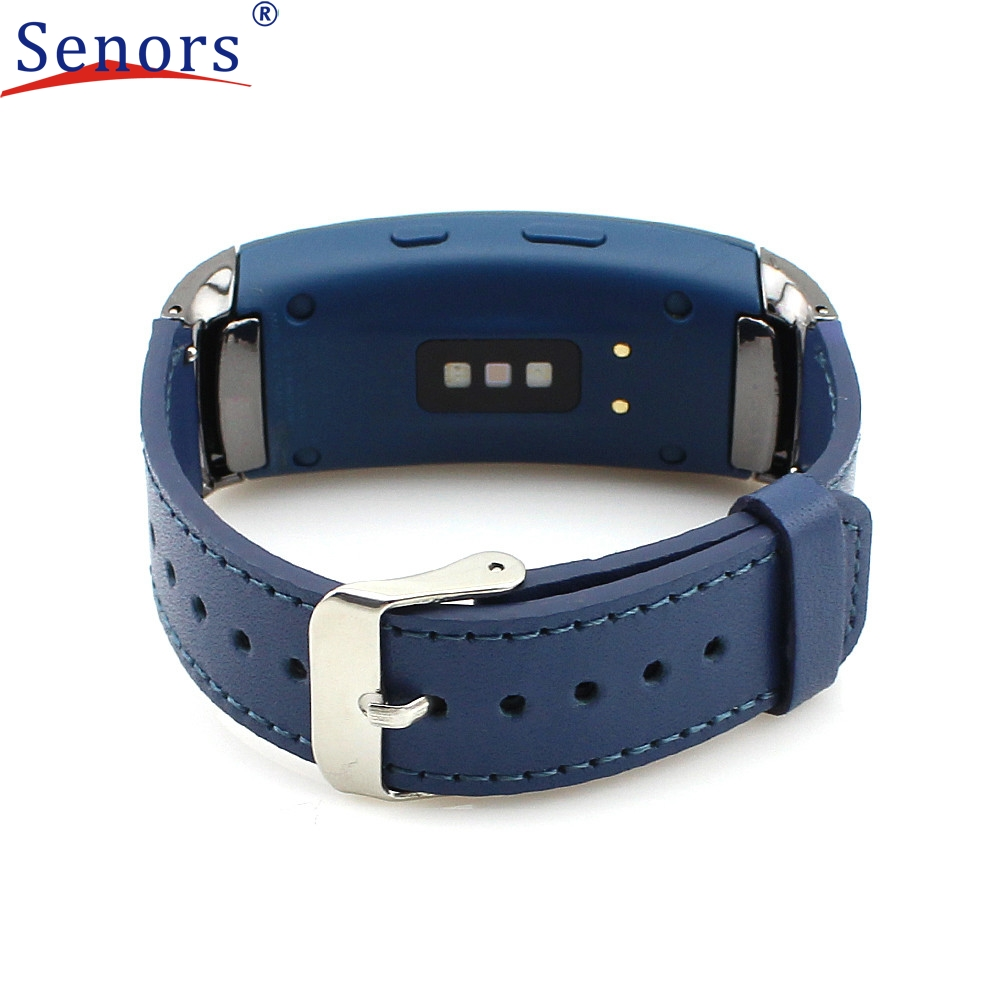New Arrivals Leather Replacement Watch Band Wrist Strap + Film For Samsung Gear Fit2 SM-R360 High Quality Aug29