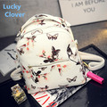 2016 fashion backpack female Korean casual fashion Butterfly Print stereotypes shopping bag College Wind backpack orchid