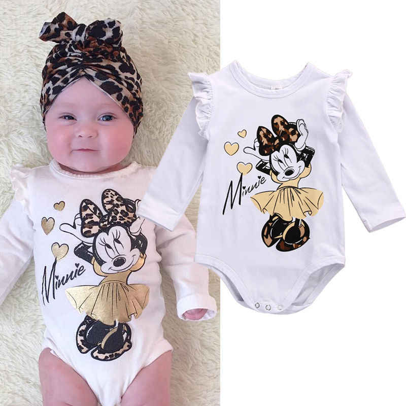 685b4bff64f Cute Newborn Infant Baby Girl Clothes Cotton Long Sleeve Cotton Bodysuit  Cartoon Outfit 0-18M