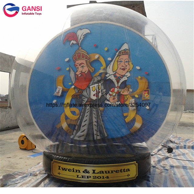 large outdoor christmas balls transparent inflatable snow ball 3m diameter inflatable human size snow globe for - Large Outdoor Christmas Balls