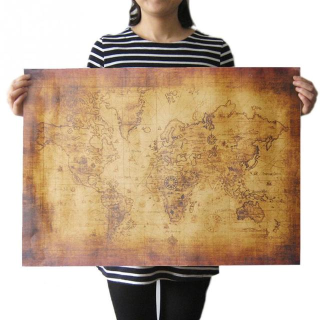 70cx50cm large vintage style retro kraft paper poster gifts home 70cx50cm large vintage style retro kraft paper poster gifts home decoration globe the old world map gumiabroncs Image collections