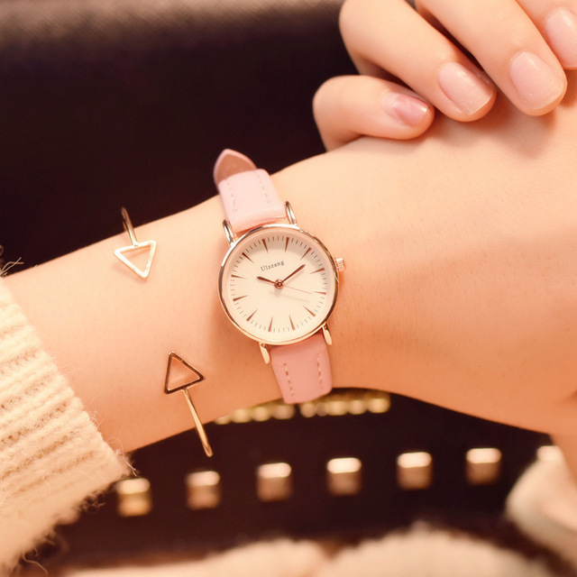 Luxury women's fashion quartz watches simple small dial women dress watch ulzzan