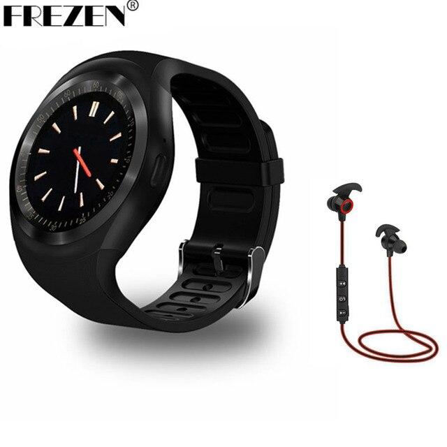 FREZEN Y1 Smartwatch Круглосуточная поддержка SIM-карты Nano SIM с помощью WhatsApp и Facebook Фитнес-бизнес Smartwatch для телефонов Android