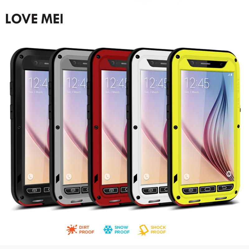 Lovemei for samsung galaxy A5 2015 silicone case life waterproof Shockproometal case for samsung galaxy A3