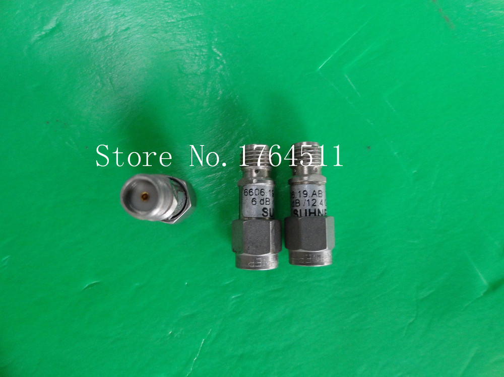[BELLA] SUHNER 6606.19.AB DC-12.4GHz 6dB 2W SMA Coaxial Fixed Attenuator  --5PCS/LOT