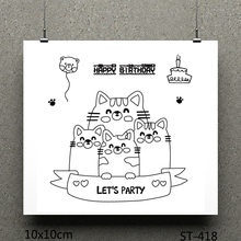 ZhuoAng Cat design stamp / scrapbook rubber craft clear card seamless