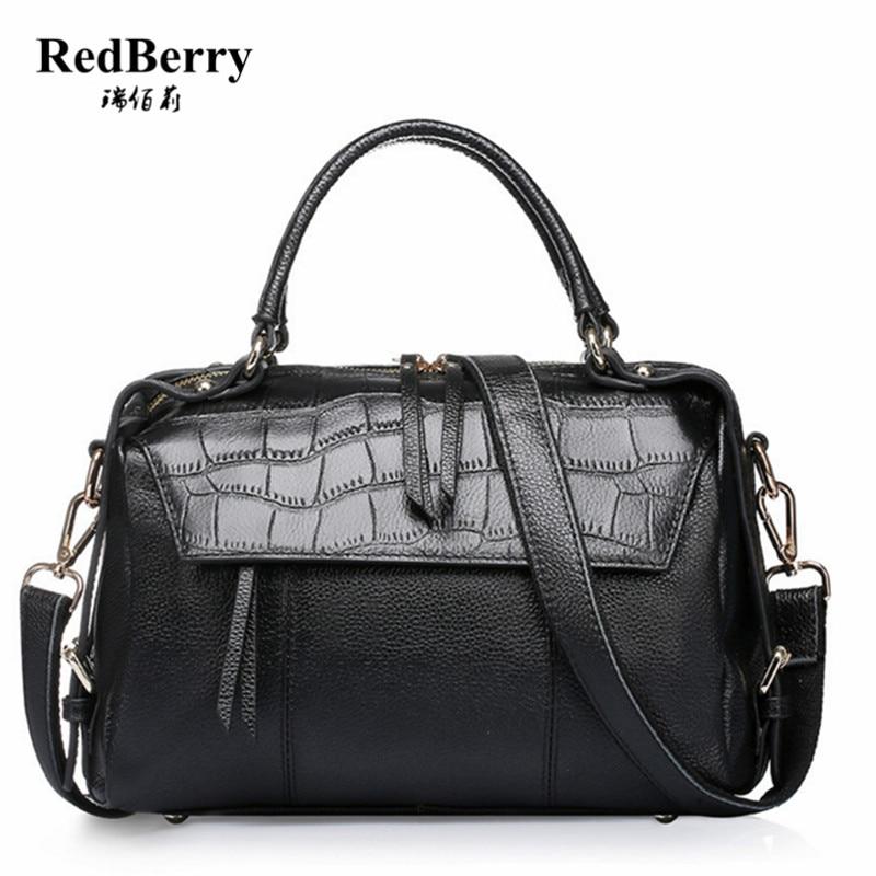 100% Genuine Leather Women Handbag Black 2016 Fashion Cow Leather Luxury Shoulder Bolsas Feminina Famous Brand New Elegant