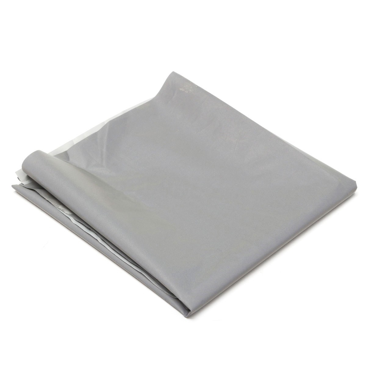 Silver Reflective Fabric Sew On Cloth Material Highlight Chemical Fiber 39.4inch